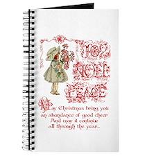 vintage Christmas girl Journal