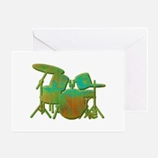 Funky Drumset Greeting Card