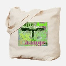 HOPE AND CHANGE SONG - GREEN Tote Bag