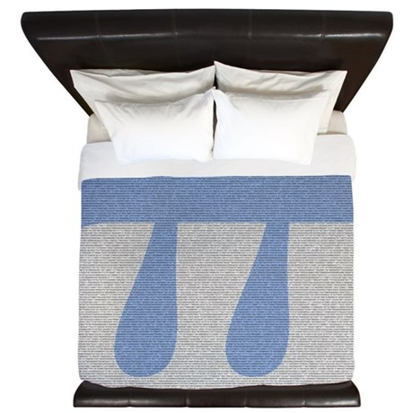 King-Size Pi Duvet Cover