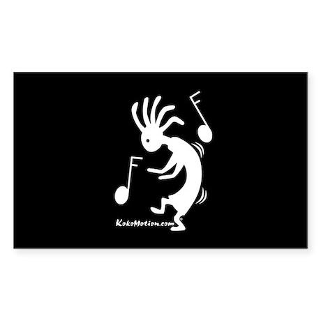 Kokopelli Dancer Rectangle Sticker