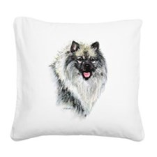 Keeshond #2 Square Canvas Pillow