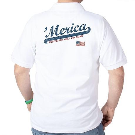 Vintage Team 'Merica Golf Shirt