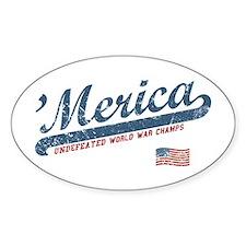 Vintage Team 'Merica Decal