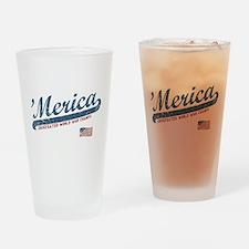 Vintage Team 'Merica Drinking Glass
