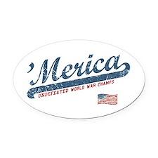 Vintage Team 'Merica Oval Car Magnet