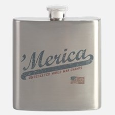 Vintage Team 'Merica Flask