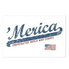 Vintage Team 'Merica Postcards (Package of 8)