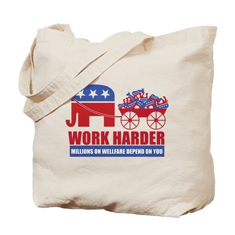 Work Harder Tote Bag