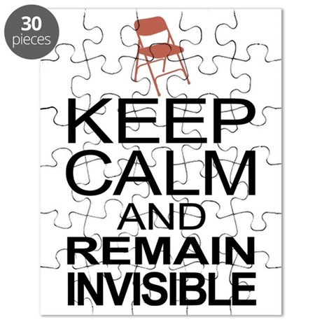 Obama Empty Chair - Remain Invisible Puzzle
