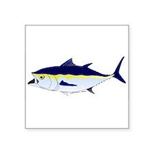 """Bluefin Tuna fish Square Sticker 3"""" x 3"""""""