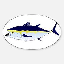 Bluefin Tuna fish Sticker (Oval)