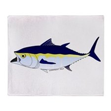 Bluefin Tuna fish Throw Blanket