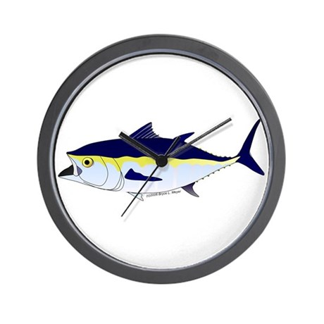 Bluefin tuna fish wall clock by combatfishingoffshorefish for Fish wall clock