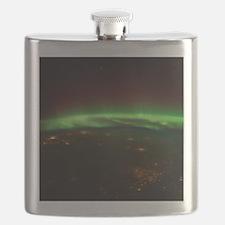 Aurora Borealis Midwest Flask