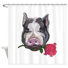 pot bellied pig Shower Curtain