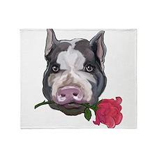 pot bellied pig Throw Blanket