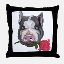 pot bellied pig Throw Pillow