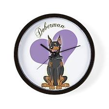 Doberman Wall Clock