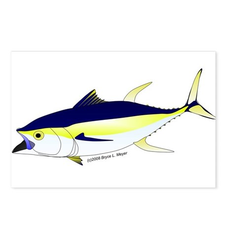Yellowfin Tuna (Allison Tuna) Postcards (Package o
