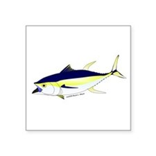 "Yellowfin Tuna (Allison Tuna) Square Sticker 3"" x"