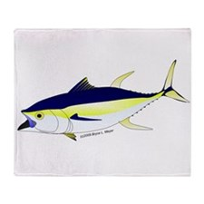 Yellowfin Tuna (Allison Tuna) Throw Blanket