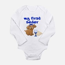 my first Seder Long Sleeve Infant Bodysuit