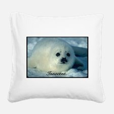 Innocent Square Canvas Pillow