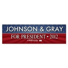 FREE - Gary Johnson 2012 Bumper Car Sticker