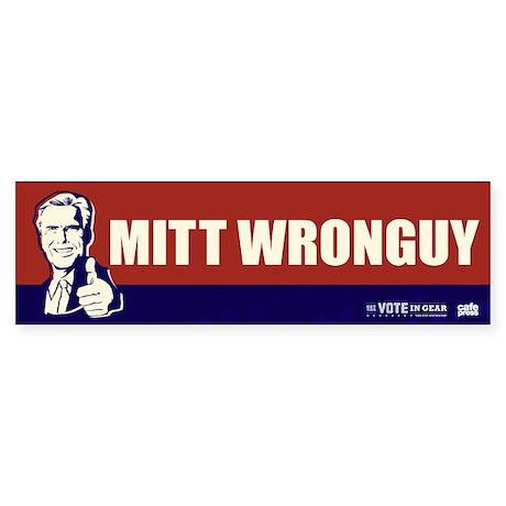 FREE - Mitt Wronguy Bumper Sticker