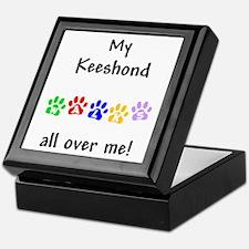 Keeshond Walks Keepsake Box