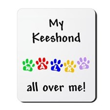 Keeshond Walks Mousepad
