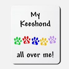 Keeshond Walks Mousepad