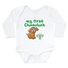 My first Chanukah Long Sleeve Infant Bodysuit