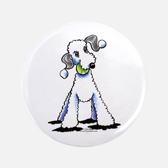 "Bedlington Terrier Play 3.5"" Button"