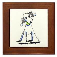 Bedlington Terrier Play Framed Tile