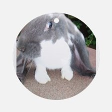English Lop Bunnie Ornament (Round)