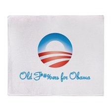 Old F-ers for Obama Throw Blanket