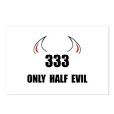 333 Half Evil Postcards (Package of 8)