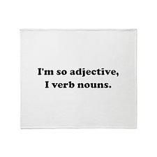 Adjective Verb Nouns Throw Blanket