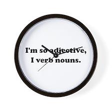 Adjective Verb Nouns Wall Clock