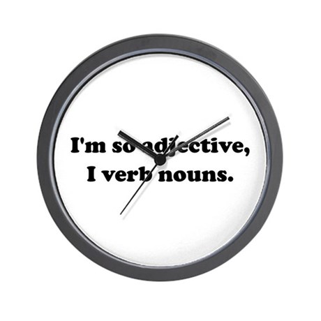 Adjective Verb Nouns Wall Clock