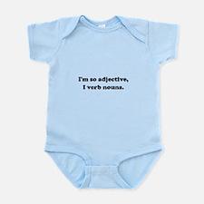 Adjective Verb Nouns Infant Bodysuit