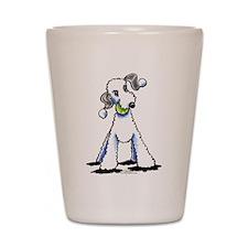 Bedlington Terrier Play Shot Glass