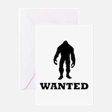Bigfoot Wanted Greeting Card