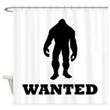 Bigfoot Wanted Shower Curtain