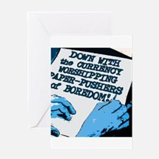 Paper-pushers of Boredom Greeting Card