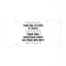 Binary People Aluminum License Plate