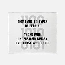 Binary People Throw Blanket