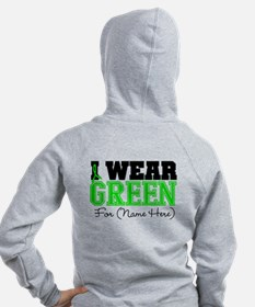 Personalize I Wear Green Zip Hoodie